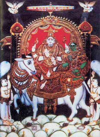 Rishabha arudar, Shiva and bull