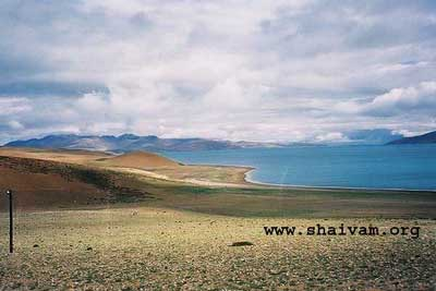 The Blue and Big Rakshastal, Lake next to Mansarovar