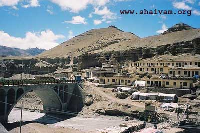 Village of taklakot on the banks of river kaNDaki - close to kailsh Mansarovar in tibet