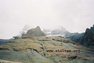 God's vision doesn't get obscured by the clouds - Western face of kailAsh