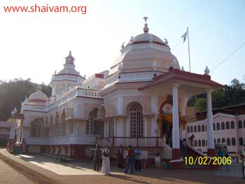 The famous Mangesh temple, Goa, India.