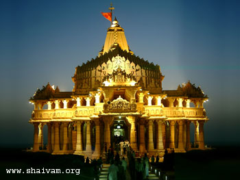 Somnath Temple by night