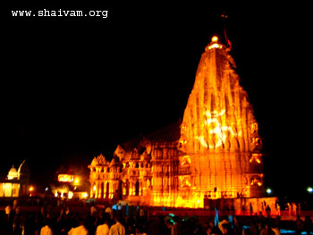Somnath Temple with Om lighting